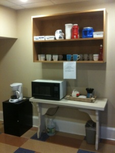 Academic Center's new coffee bar.     Photo courtesy Lisa Rouleau
