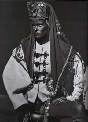 French <em>Vogue</em>'s photographs of Lara Stone in blackface