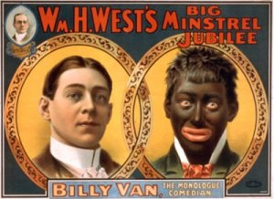 Reproduction of minstrel show poster c. 1900