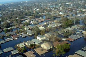 Flooding from Hurricane Katrina.
